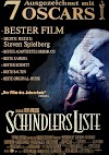 Filmposter Schindlers Liste